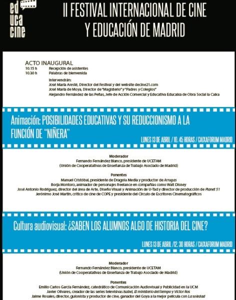 PROGRAMA JORNADAS EDUCACINE